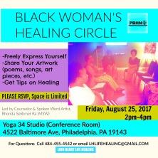 Black Woman's Healing Circle 8-25-17