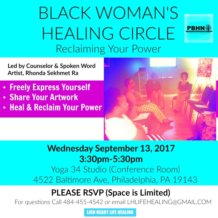 Black Womans Healing Circle September