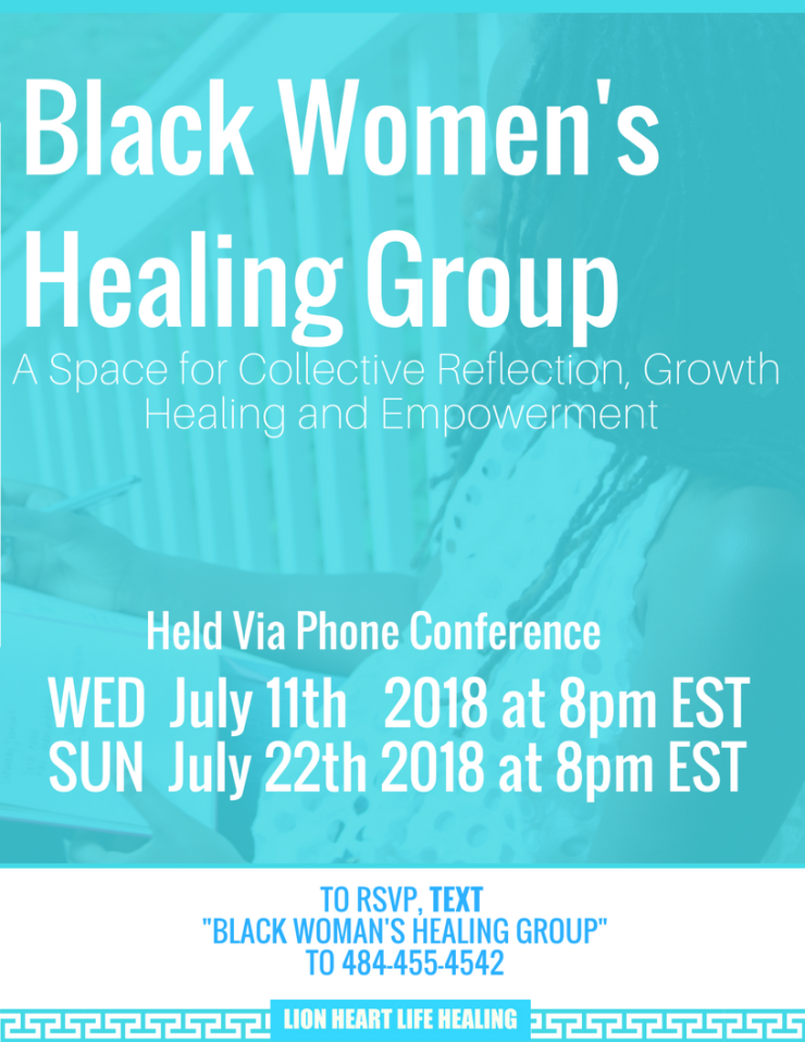Black Women's Healing Group July 2018