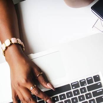 black women on computer