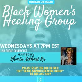 BLACK WOMEN'S HEALING GROUP may 2019